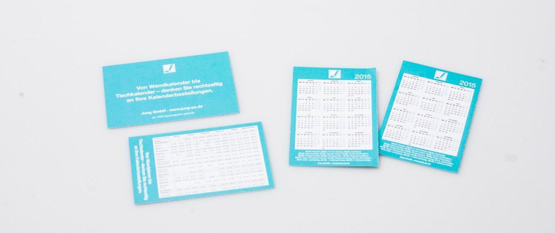Jung Visitenkartenkalender