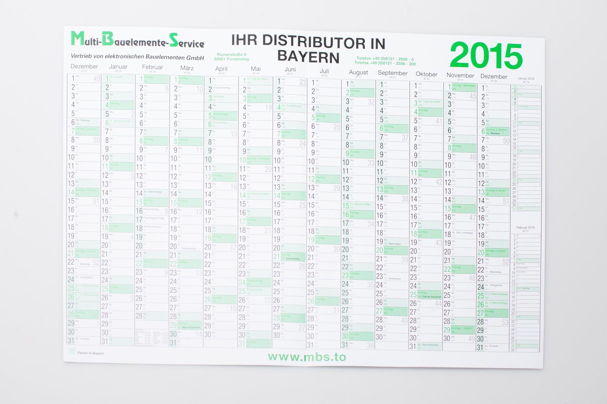 DIN A3 Kalender